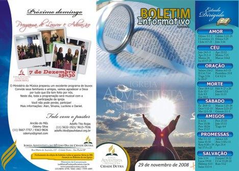 Boletim 29.11.2008
