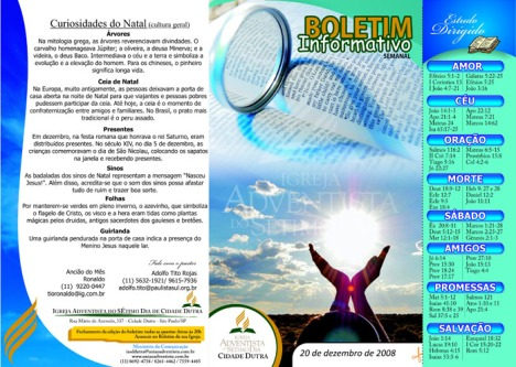 Boletim Virtual 20.12.08