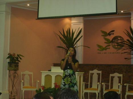 Iveline na IASD Cidade Dutra - União Adventista