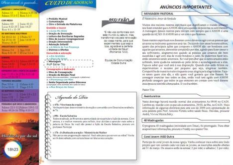 Boletim IASD Dutra - União Adventista
