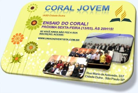 Coral Jovem Adventista - IASD Cidade Dutra (www.uniaoadventista.com.br)