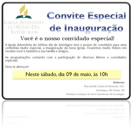 Inauguração IASD Interlagos - União Adventista